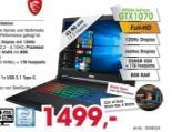 Gaming Notebook Leopard GP73 von MSI