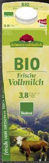 Bioland Vollmilch von Schwarzwaldmilch