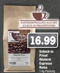 Espresso Roma von Scheck-in Privat Rösterei