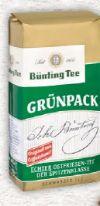 Grünpack von Bünting Tee