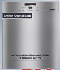 Unterbau-Geschirrspüler G 4310 SCU Active Eco von Miele