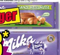 Großtafeln Schokolade von Milka