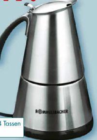 Kaffee-Espresso- und Mokka-Kocher EKO 364/E von Rommelsbacher