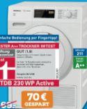 Wärmempumpentrockner TDB 230 WP Active von Miele