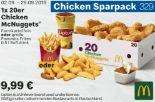 1 x 20er Chicken McNuggets 329 von McDonald's