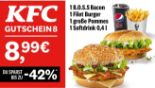 1 B.O.S.S Bacon + 1 Filet Burger + 1 große Pommes + 1 Softdrink 8 von KFC