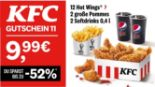 12 Hot Wings + 2 große Pommes + 2 Softdrinks 11 von KFC