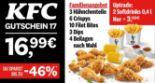 3 Hähnchenteile + 6 Crispys + 10 Filet Bites + 3 Dips + 4 Beilagen 17 von KFC