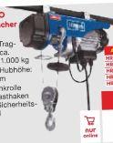 Elektrischer Seilzug hrs250 von Scheppach