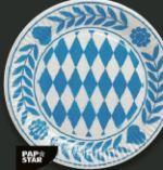 Pappteller Bayrisch Blau von Pap Star