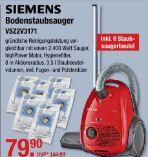 Bodenstaubsauger VSZ2V3171 von Siemens