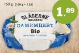 Bio Camembert von Gläserne Molkerei