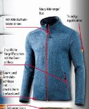 Herren-Arbeits-Strickfleece-Jacke von Toptex Pro