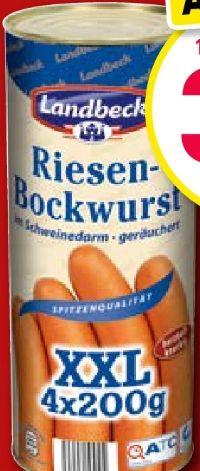 Riesen-Bockwurst von Landbeck