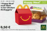 1 Happy Meal Nach Wahl 1x6er Chicken McNuggets 307 von McDonald's