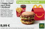 1 Happy Meal nach Wahl 1 McMenü 210 von McDonald's