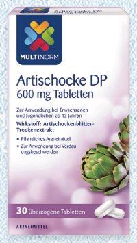 Artischocke DP 600 mg Tabletten von Multinorm