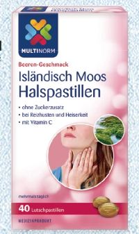 Isländische Moos Pastillen von Multinorm