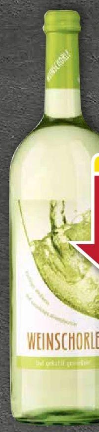 Weinschorle weiß von Rheinberg Kellerei
