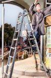 Monto Aluminium-Sprossen-Gelenk-Teleskop Leiter TeleVario von Krause