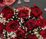Valentins-Rosenstrauß