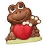 Schokolade Frosch mit Herz
