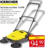 Kehrmaschinen S650 von Kärcher