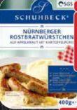 Nürnberger Rostbratwürstchen von Schuhbecks