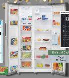 SidebySide Kombi-Kühlschrank SBS 7308 IX von Bomann