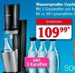 Wassersprudler Crystal von Sodastream