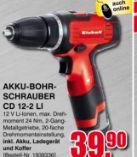 Akku-Bohrschrauber CD 12-2 LI von Einhell