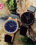 Holz Armbanduhr Slim Line von Chronique