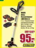 Akku-Rasentrimmer und Kantenschneider WG163E.3 von Worx