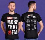 Herren T-Shirt Avengers Marvel More Than a Fan von Elbenwald