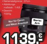 Weitwinkelzoomobjektiv 24-70mm f2,8 DG OS von Sigma