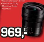 Objektiv Leica DG Vario-Elmarit 8-18/2,8-4 Asph. von Panasonic