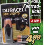 Fahrradlicht von Duracell