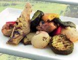 Bio Focaccia Gegrilltes Gemüse von Backbord