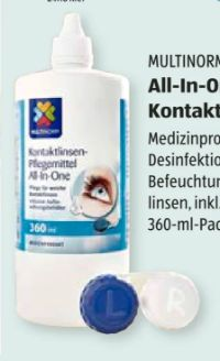 All-In-One Kontaktlinsen-Pflegemittel von Multinorm
