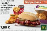1 McRib 1 x 6er Chicken McNuggets 319 von McDonald's