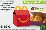 1 Happy Meal Nach Wahl 1x6er Chicken McNuggets 307 von McDonald's