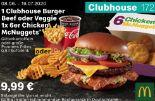 1 Clubhouse Burger Beef oder Veggie 1x 6er Chicken McNuggets 172 von McDonald's