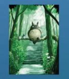 Metall Poster Forest Spirit für Totoro Fans von Elbenwald