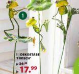 Dekostäbe Frosch von Dehner Marken Qualität
