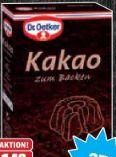 Kakao zum Backen von Dr. Oetker