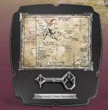 Wandbild Thorins Karte mit Schlüssel Der Hobbit von Elbenwald