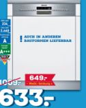 Einbaugeschirrspüler SN 536 S 01 PD von Siemens