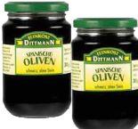 Schwarze Oliven von Feinkost Dittmann
