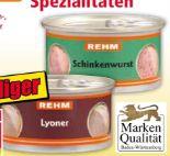 Wurst-Spezialitäten von Rehm