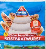 Dicke Sauerländer Rostbratwurst von Metten
